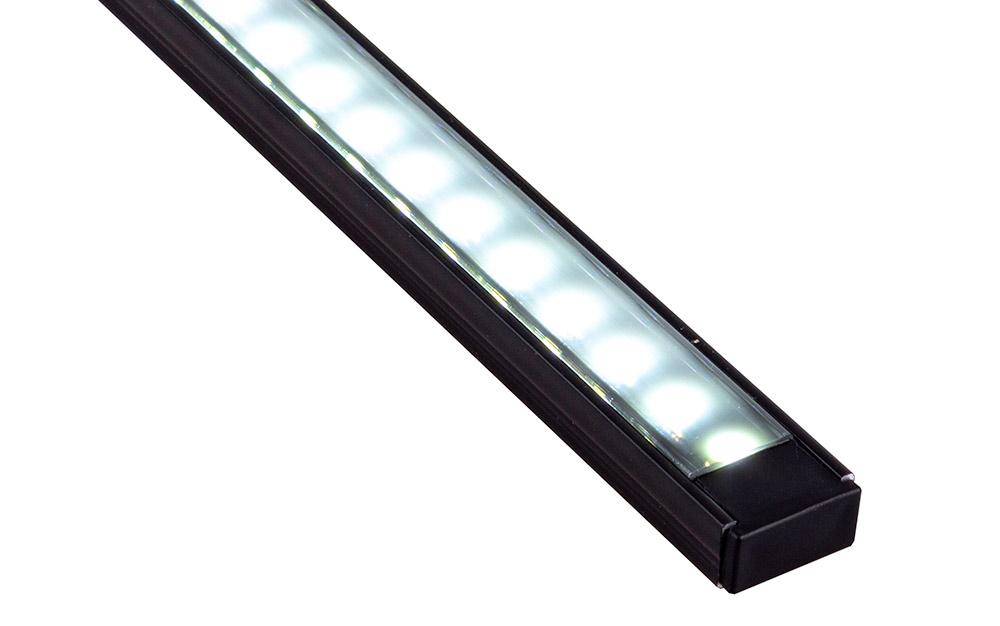 LINE MINI czarny profil z czarnym kloszem - liniowe oświetlenie LED